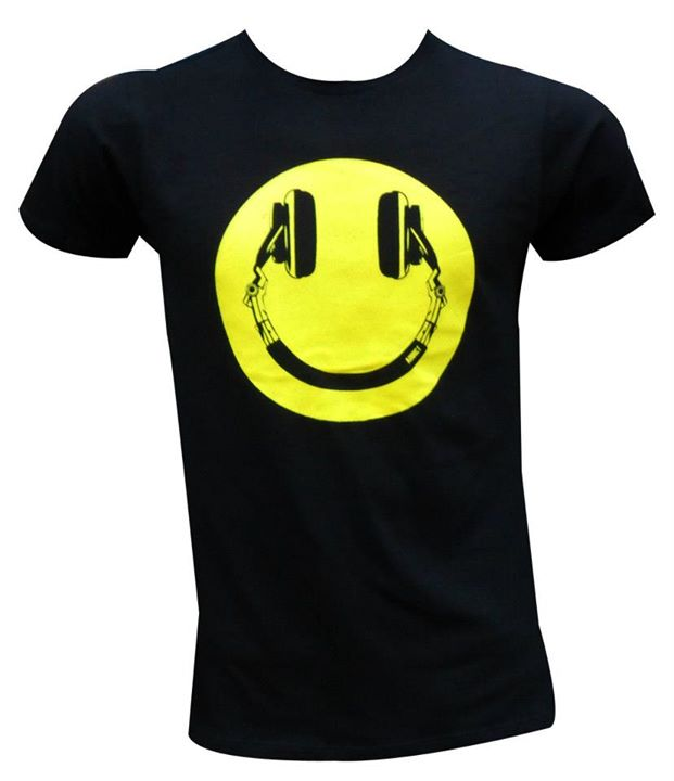 pics photos smiley face headphones t shirt. Black Bedroom Furniture Sets. Home Design Ideas